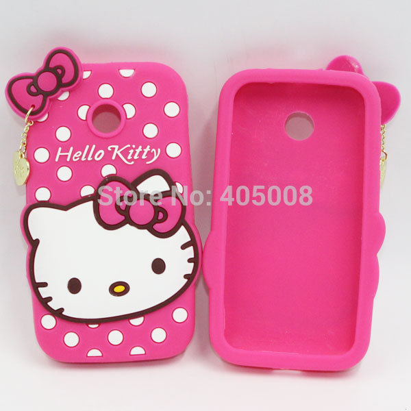 new concept 0afa0 d8f46 US $350.0 |For Moto E Hello Kitty Phone Back Rubber Cases Covers For  Motorola Moto E XT1021 XT1022 Bowknot Soft Cover Cute Silicone Case on ...