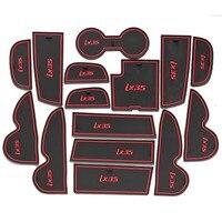 Gate Slot Pad Mats Door Slot Cushion Cup Dash Mat Interior Accessories 15pcs Set For