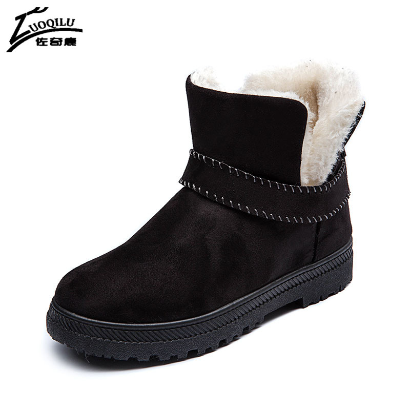 Women Boots 2017 Autumn Winter Ankle Boots Women Winter Shoes Woman Snow Boots Ladies Work Shoes