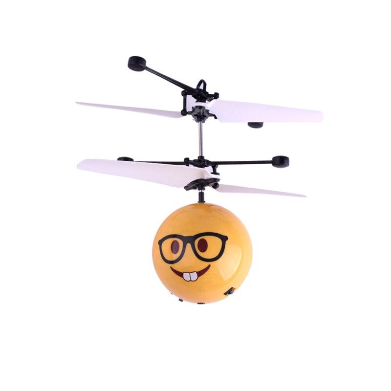 Creativo JUGUETES fieltro luminoso vuelo mini bolas infrarrojo electrónico inducción Control remoto aviones JUGUETES para niños