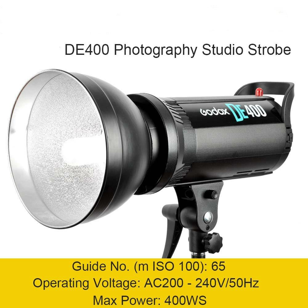 Godox DE400 400 W 400WS Pro Studio de photographie lumière Flash stroboscopique lampe tête 220 V