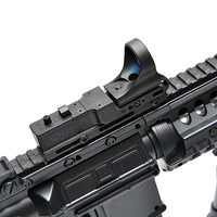 New Tactical Red Dot Sight EX 182 Element SeeMore Railway Reflex Sight C MORE Red&Green Illumination Scope for Airsoft