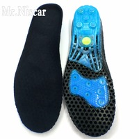 Mr Niscar Men Women Shock Absorbant Orthotic Sport Running Insoles Insert Shoe Pad Breathable Silicone Anti