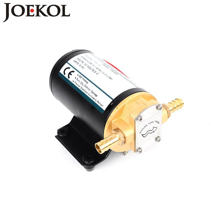 FP-12 dc 12 V/24 V pompe de transfert de carburant Horizontal Total cuivre matériel pompe à engrenages pompe à diaphragme
