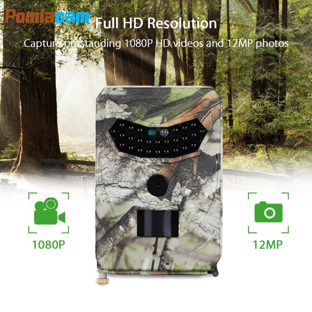 PR100 12MP 1080P Hunting Camera Wide Angle Motion Detection 940NM PIR Sensor Scouting Infrared Wildlife Game