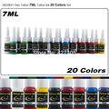 JX23XS1 Hao Tatuaje Pigmento Del Tatuaje Conjunto Completo de 20 Colores 7 ml/bottle Tinta Del Tatuaje Kit de Tatuaje Suministros