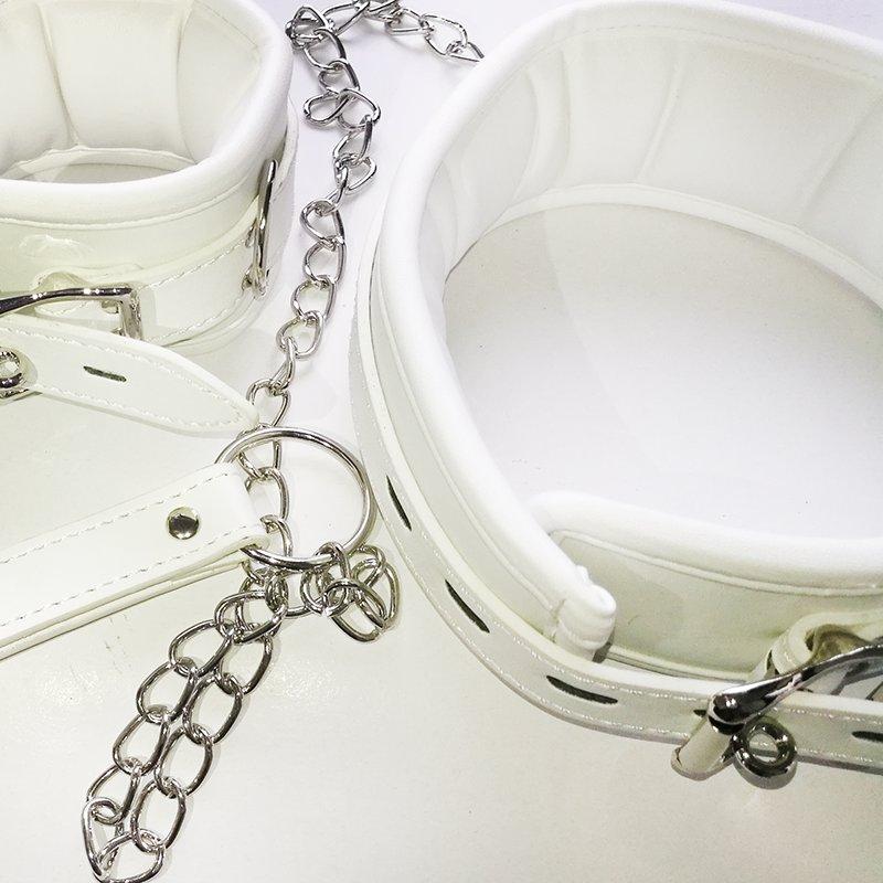 White bondage restraints
