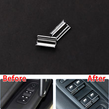 Car Styling Door Window Lifter Sequins Trims ABS Plating Chrome Trim For Peugeot 308 408 508 2008 3008 New 5008  2014 2015