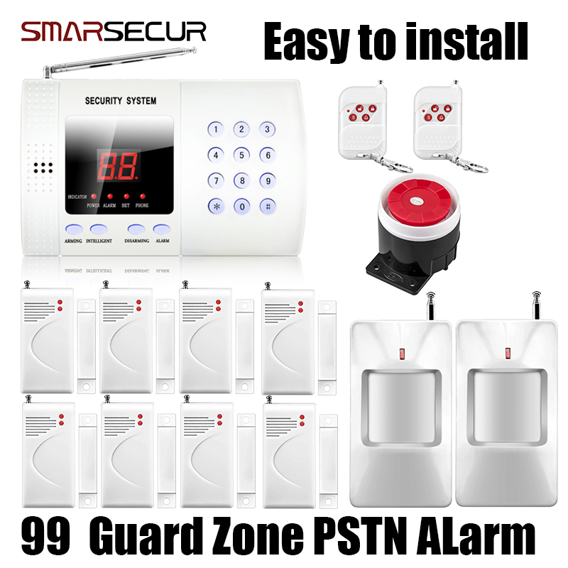 Smarsecur Q99 Wireless Personal Defense Safe PIR Home house Security PSTN Alarm Burglar Voice System Auto Dial Dialing