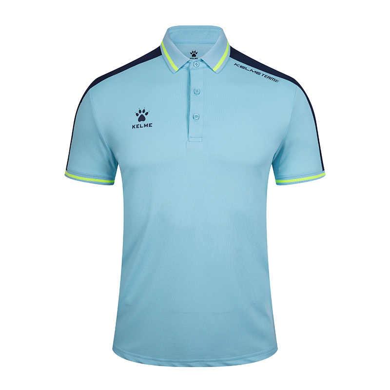KELME erkek eğitim Polo tişört yaz koşu pamuk gömlekler rahat kısa kollu üstleri yüksek miktar Polo erkekler için 3891068