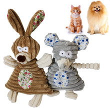 Newst Pet Dog Cat Gnawing Toys Plush Squeak Durable 100% Natural Cotton Chewing For Dogs