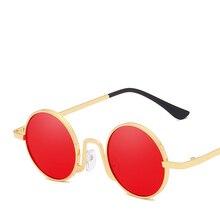 2019 Luxury Brand Gothic Punk Womens Sunglasses Men Vintage Retro Round Sunglass Lady Sun Glasses lunette soleil femme okulary