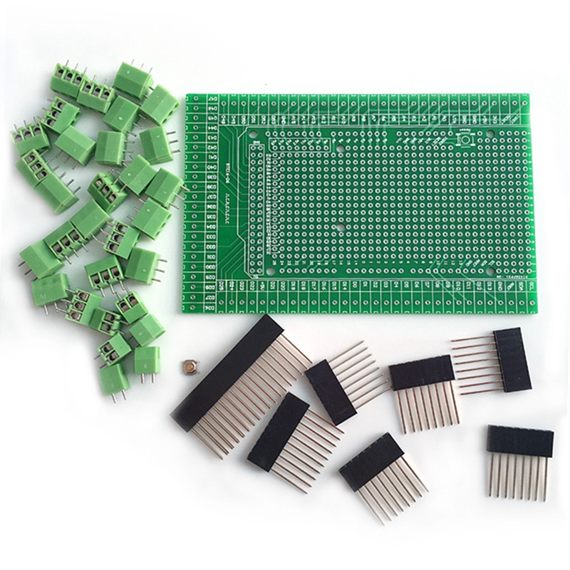High Quality New 2019 Prototype Screw Terminal Block Shield Board Kit For MEGA 2560 R3 Hot Sale in Replacement Parts Accessories from Consumer Electronics