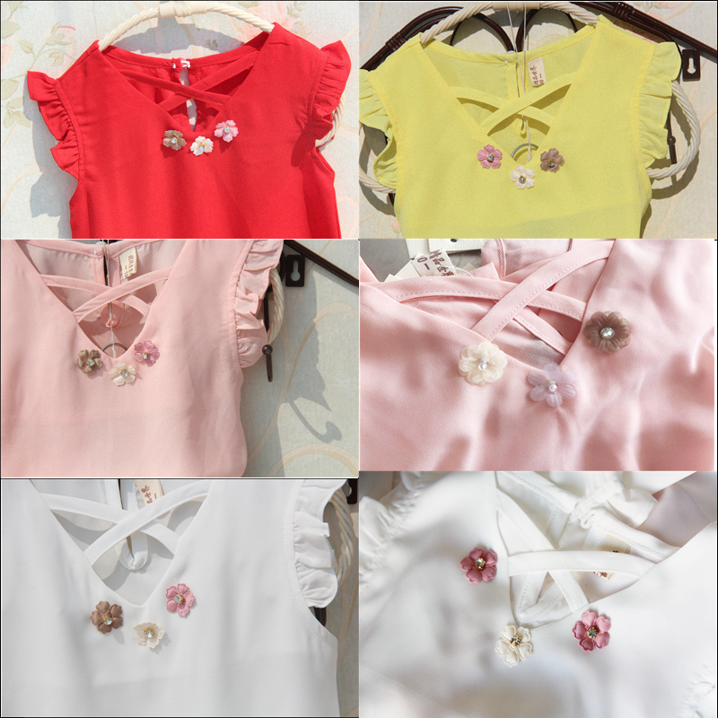 40ca08df7c Niños blusa Verano de 2018 adolescentes chicas grandes camisas de gasa  blusas blancas de las niñas diseño Tops de moda del Bebé Ropa de niña en  Blusas y ...