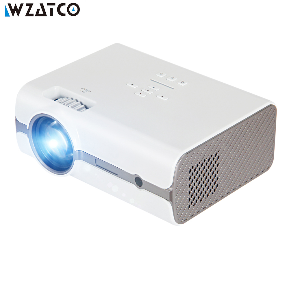 WZATCO CT68S MINI Projector 2000lu Full HD 1080P Portable 3D Proyector LED Projector Optional Android 6 Version Theater Beamer original yg300 mini projector full hd led projector 500lm audio hdmi usb mini yg 300 proyector home theater media player beamer
