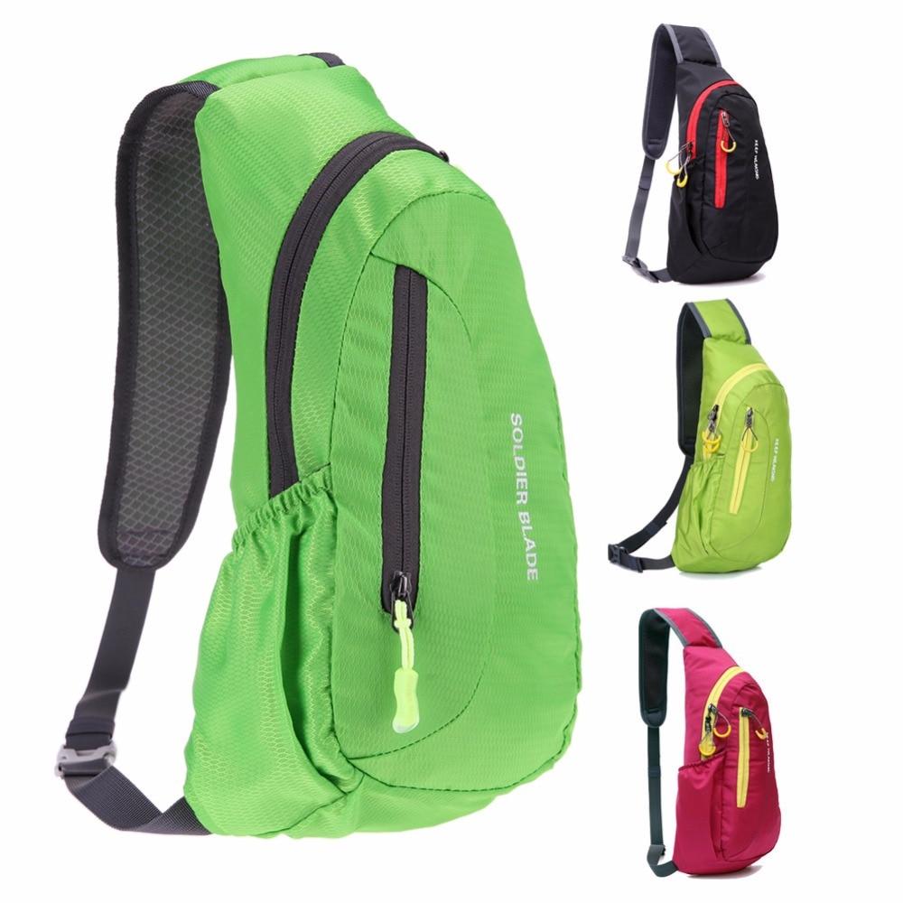 Unisex Waterproof Nylon Chest Bag Men Women Portable Running Shoulder Bag Diagonal Package Cycling Running Hiking Sports Bag
