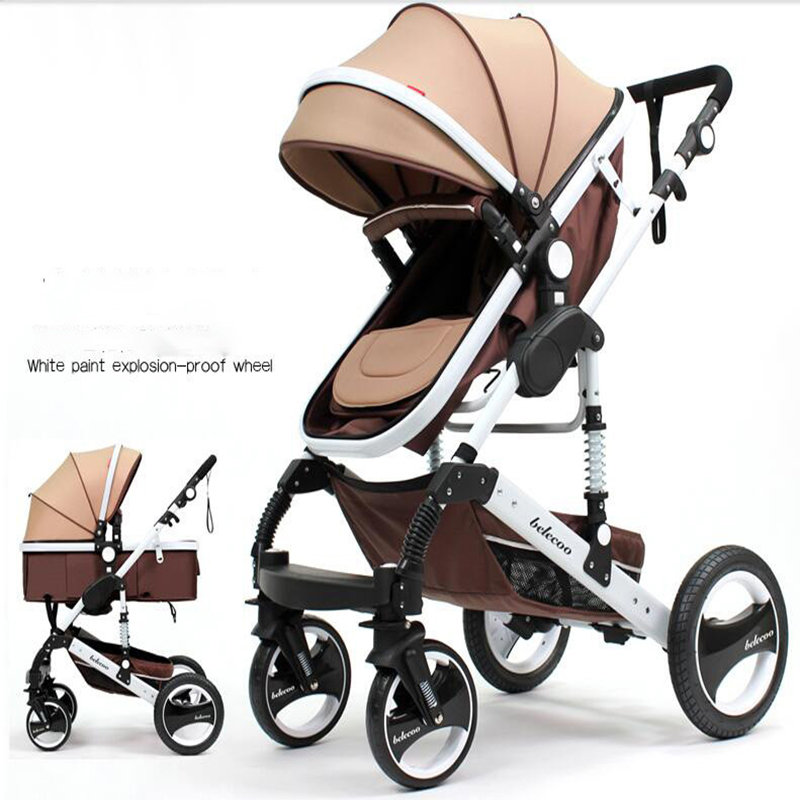 2018 new high landscape stroller baby stroller luxury hot mom child stroller baby stroller two-way implementation все цены