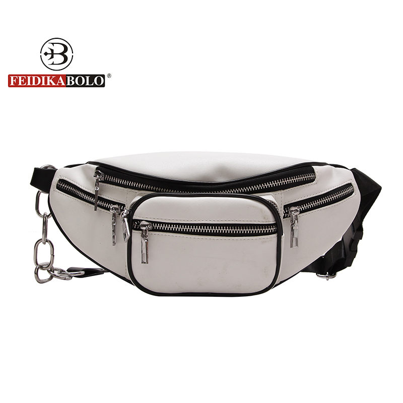 FEIDIKABOLO Brand PU leather waist bag women purse and waist bags for women 2018 bag belt women's belt female bag waist pack men
