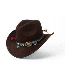 271b0d9acf163 Niño hueco occidental Sombrero de vaquero chico chica vaquera borla  Outblack Sombrero Hombre Fedora tapa