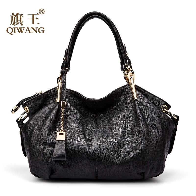 70bd1af97306 Qiwang для женщин пояса из натуральной кожи сумки мягкой кожаные сумки-узлы  большой великолепные на