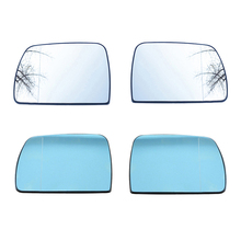 Car Replacement White & Blue Left Right Heated Wing Rear Mirror Glass For BMW X5 E53 1999 2000 2001 2002 2003 2004 2005 2006 pair of side mirror glass heated 51167039598 for bmw x5 e53 2000 2006