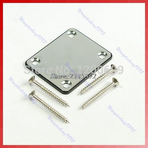 hot-selling 1pcs Chrome Plate W/Screw Neck For Start Tele Screws New free shipping niko 50pcs chrome single coil pickup screws