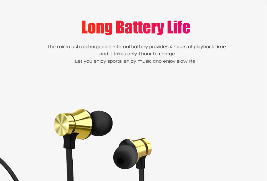 Wireless Headphone Bluetooth Earphone Magnetic Headset Neckband Sport Running Bluetooth Earphones For iPhone 7 X Xiaomi Earphone (5)