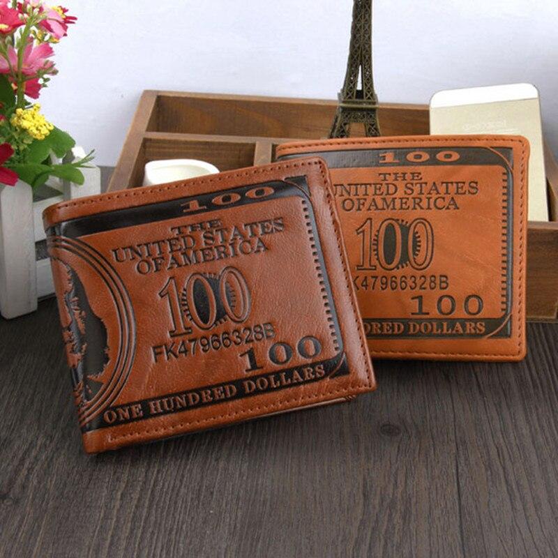 Vintage Men rahakotid Classic Bifold lühike rahakott PU nahast ID krediitkaardi hoidja Slim mündi rahakott mees