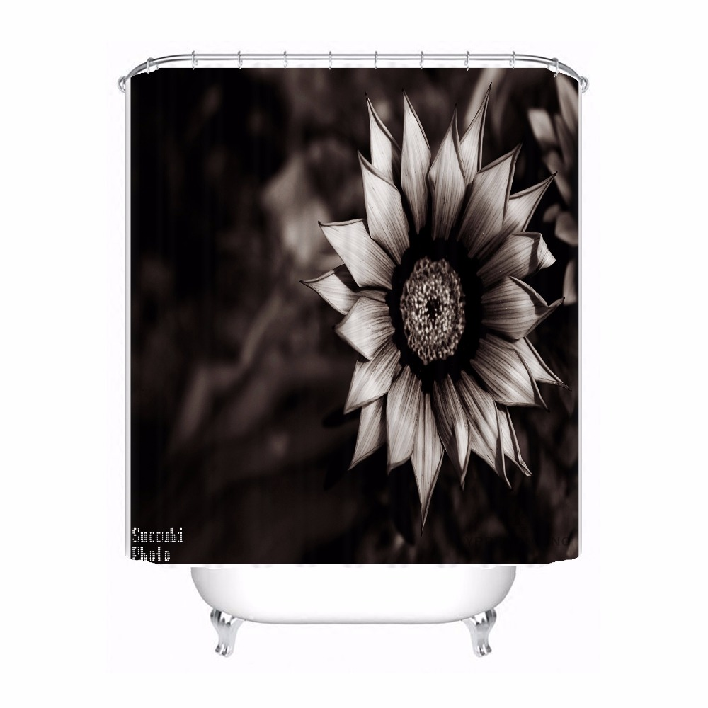 Bath Curtain For Bathroom Custom Daisies Flowers Timber Grass Home Decor Shower Waterproof Fabric Hooks 180417 01 50 In Curtains From