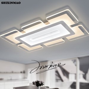 SHIXINMAOSky Cidade Ultra fino Acrílico Modern led luzes de teto para sala quarto Study Room Dezembro Casa Levou Teto lâmpada|modern led ceiling lights|ceiling lightslight for living room -