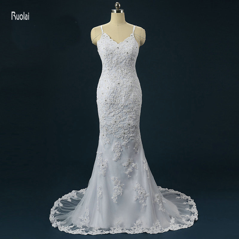 Gorgeous Sheath font b Wedding b font Dresses 2017 Vestido De Noiva Sereia Sweep Train Backless