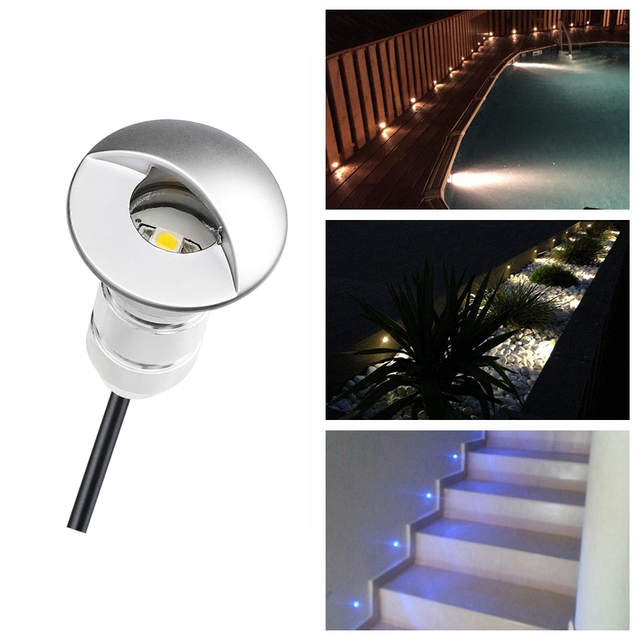 DHL free  50pcs Set Stylish LED Garden Lighting Step Light with Half ... 347bb9f9fda9