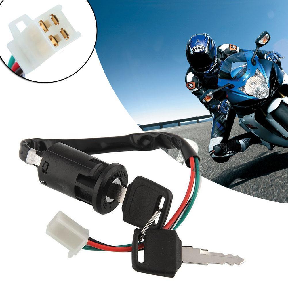 Key Ignition Switch 50cc-250cc ATV Quad Dirt Pit Bike Sunl Electra Baja Red Cat