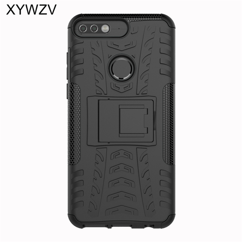 Image 2 - sFor Coque Huawei Y7 Prime 2018 Case Shockproof Hard PC Silicone Phone Case For Huawei Honor 7C Cover For Huawei Y7 Prime 2018-in Fitted Cases from Cellphones & Telecommunications