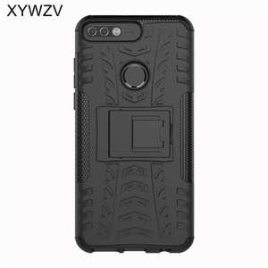 Image 2 - sFor Coque Huawei Y7 Prime 2018 Case Shockproof Hard PC Silicone Phone Case For Huawei Honor 7C Cover For Huawei Y7 Prime 2018
