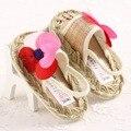 2017 Новый цветок Конопли детские мокасины Принцесса девушки детская обувь Scarpe Neonata детская обувь мягкой подошве 0-18 M детские сандалии