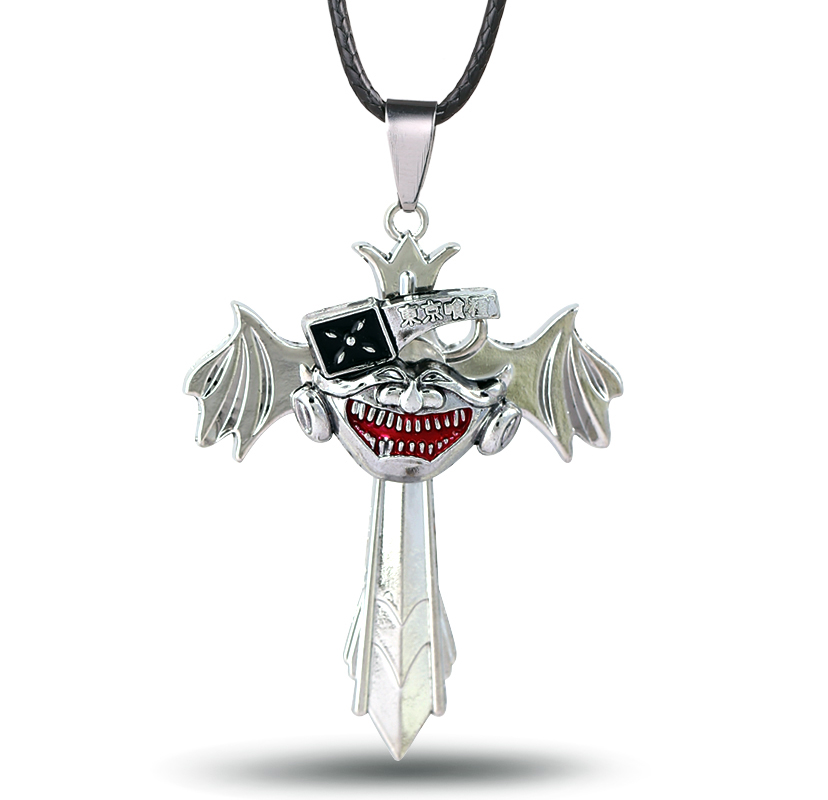 HSIC Anime Cartoon Jewelry Tokyo Ghoul Pendant Necklace  Wings  can Rotatable Pendant Necklace