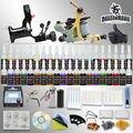 Starter kits de máquina rotatoria del tatuaje 2 equipos de 54 tintas de alimentación apretones de las agujas consejos