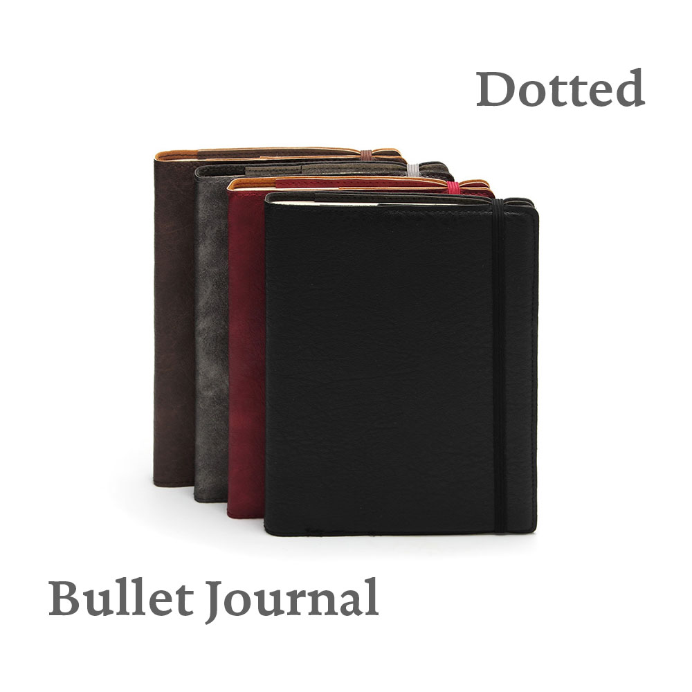 Dotted Notebook Focus Bullet Journal Bujo Flexy Puntos Leatherette Cover with Elastic Undated Diary Notepad кабель hama usb 2 0 a b m m 3 0 м позолоченные контакты h 46772