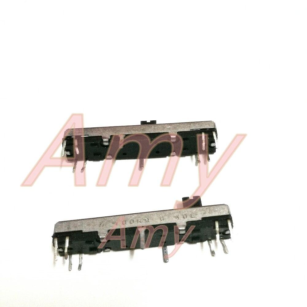 20pcs/lot c instrument sliding potentiometer 4.5 cm long 5MM 100K single shaft plasc instrument fader