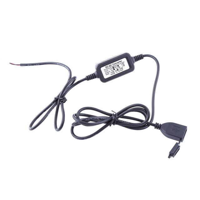 Moto Carregador USB DC 12 V Alimentação Vers 5 V Adaptateur Pr GPS Do Telefone Porta de Alimentação Carregador de Tomada À Prova D' Água para a Motocicleta