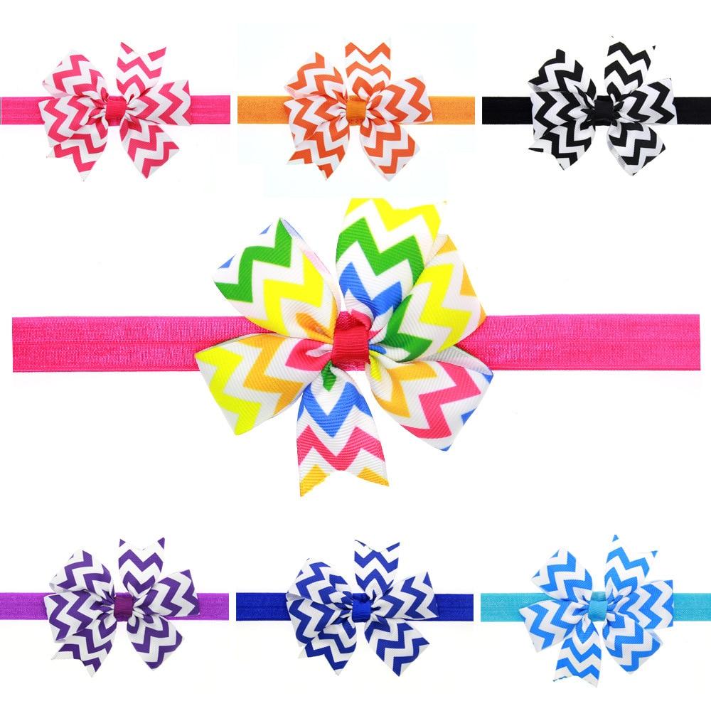 STEPAN 1 peça MAYA Crianças Onda Arco Cabeça Faixa de Cabelo Handmade Do Bebê Recém-nascido Meninas Headband Do Cabelo Corda Headwear Headwrap