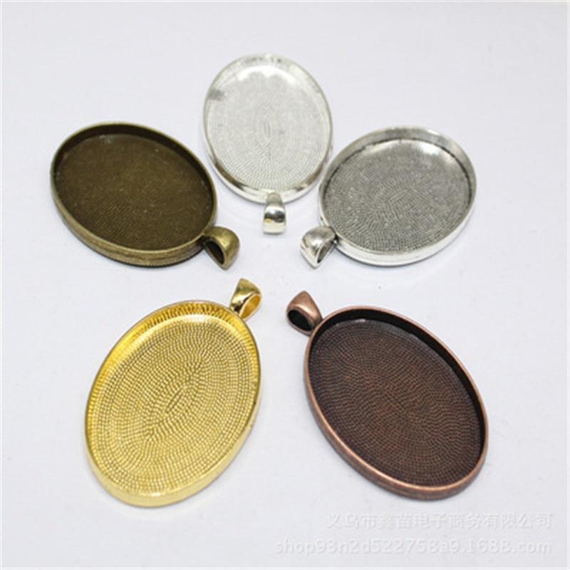 10 Pcs 25mm Cabochon Cameo Blank Tray Alloy Round Bezel Jewelry Making Settings