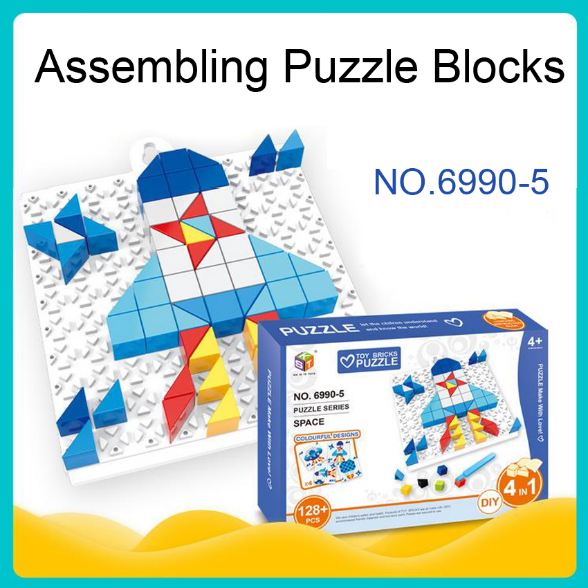 DOLLRYGA Geometric Shapes Puzzle Sorting Math Bricks Diy Learning Knutselen Kinderen Educational Game Toddler Toys For Children