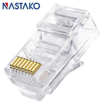 цена на RJ45 Cat5 Cat5e Connector 8p8c RJ45 Unshielded UTP Cat5e Connectors RJ45 Ethernet Network lan Cable Cat5 Crystal Modular Plug