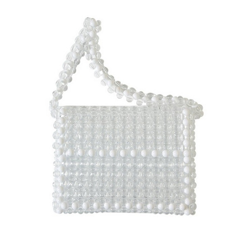 Luxury Vintage Pearl Women Evening Handbags Retro Handmade Beads bag Chic Clutch Beaded Bag