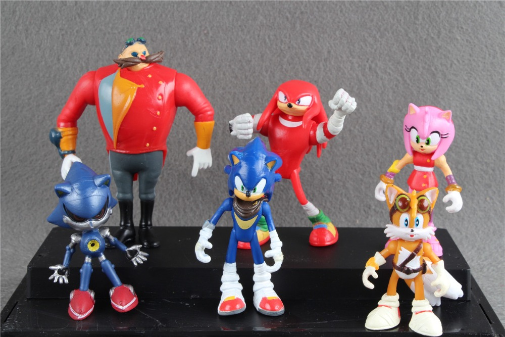 6pcs/set 4-8cm Sonic Boom Multi-Figure Pack Figure Collection Toys