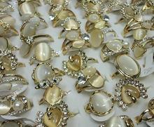100 шт стразы из натурального камня в форме кошачий глаз женские