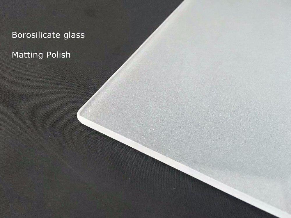 A cobertura de vidro de borosilicato lixou