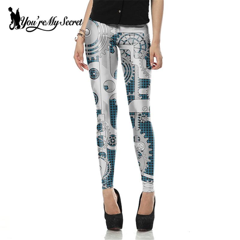 [You're My Secret] Fashion Leggings Women Steampunk Star